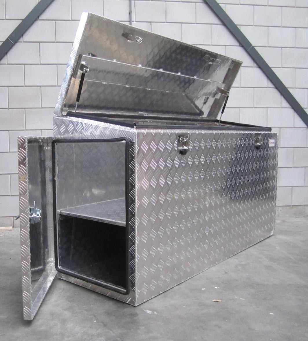 Aluminium Opberg Kist.Gepro Gepro Box Zijdeuren Kisten Viborg 1900 Aluminium