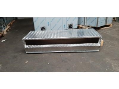 Aluminium traanplaat opbergkist 1500x540x200 lxdxh