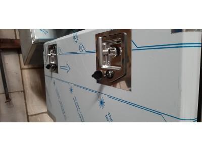RVS 1,5mm spiegel onderbouwkist 500X500X960 met  2 planken